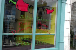 Chilli's Indian Takeaway in Penryn Cornwall